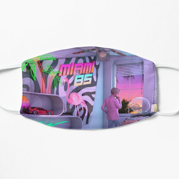 Synthwave Miami 85 Masque taille M/L