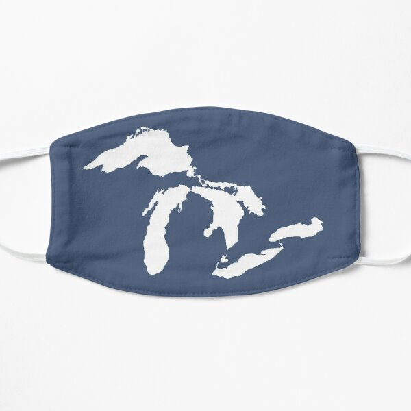 Great Lakes Outline - White Flat Mask