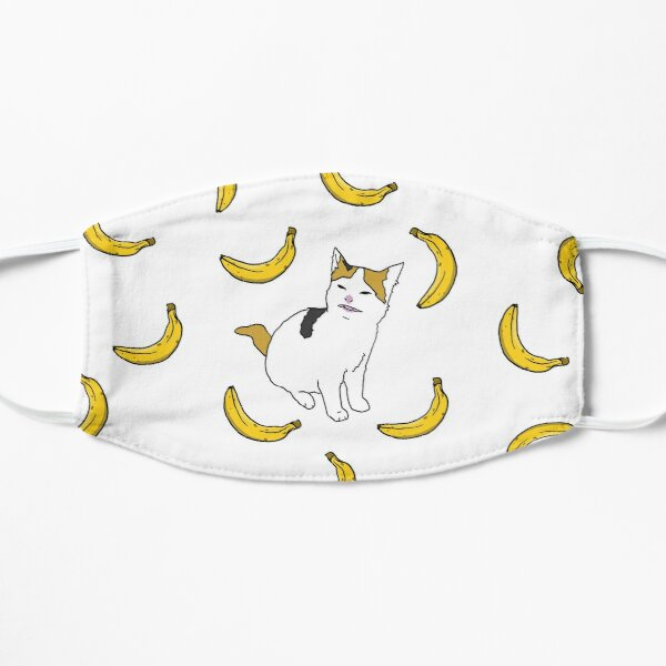 Cat no like banana Flat Mask
