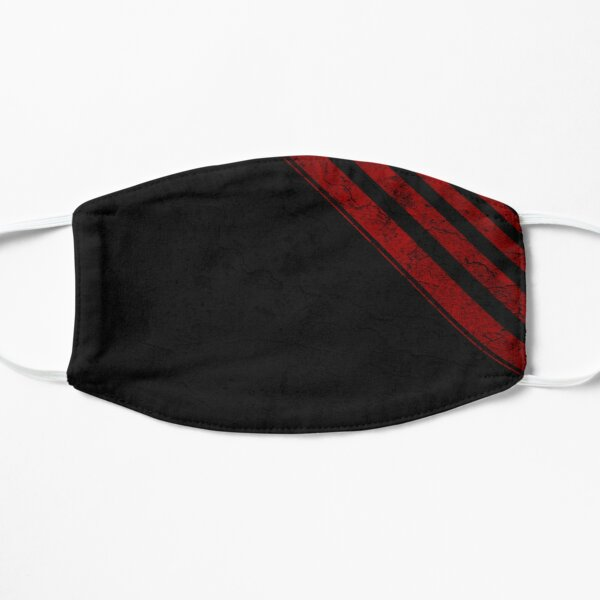 Black and red stripes grunge Mask
