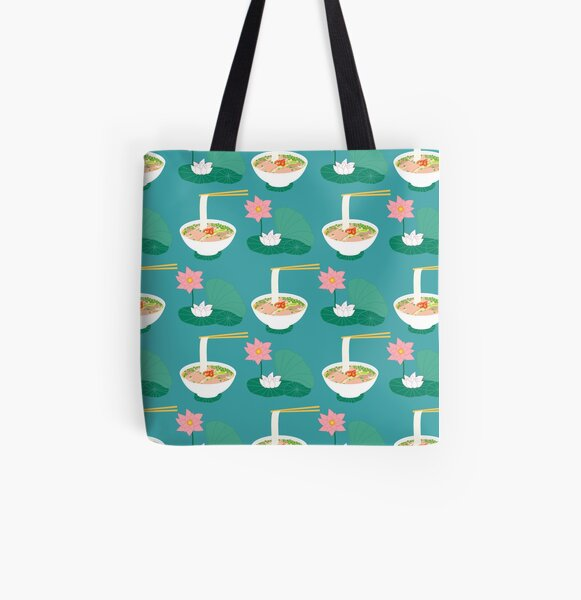 Traditional Vietnamese Pho All Over Print Tote Bag