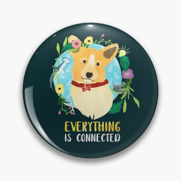"Dirk Gently - RAPUNZEL ""Everything is connected"" Button"
