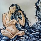 Blue Rain Carnation by Leni Kae