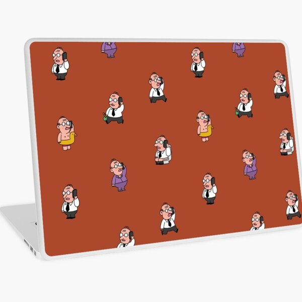 Man at work Laptop Skin