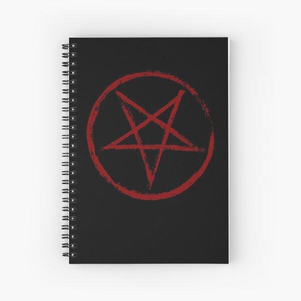 Red Worn Pentagram Spiral Notebook