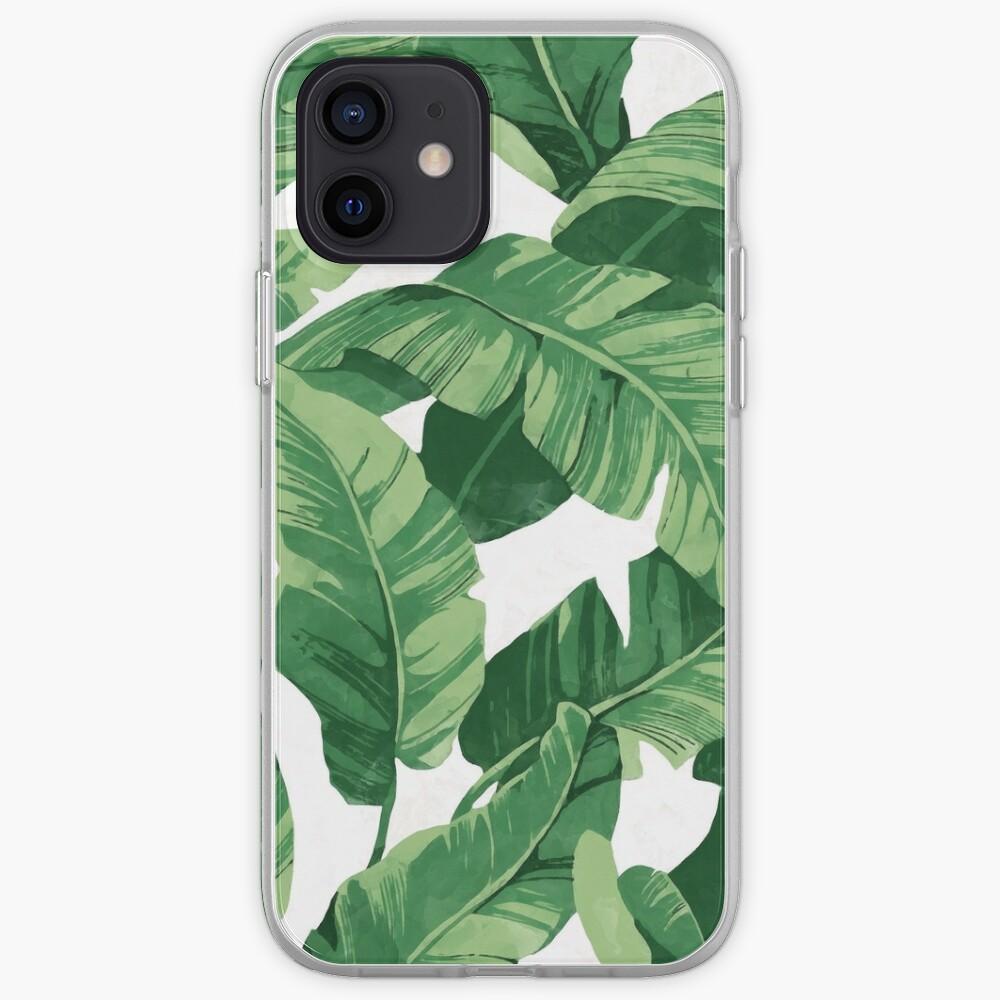 Tropical banana leaves II iPhone Case & Cover