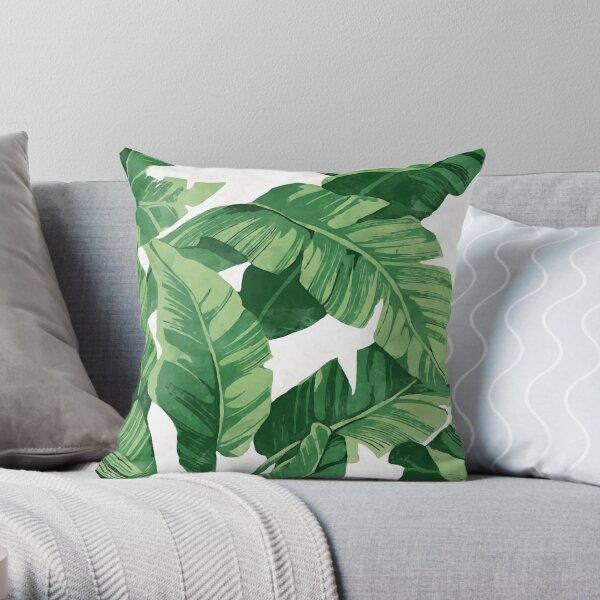 Tropical banana leaves II Throw Pillow