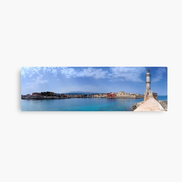 Chaniá Harbour, Crete Metal Print