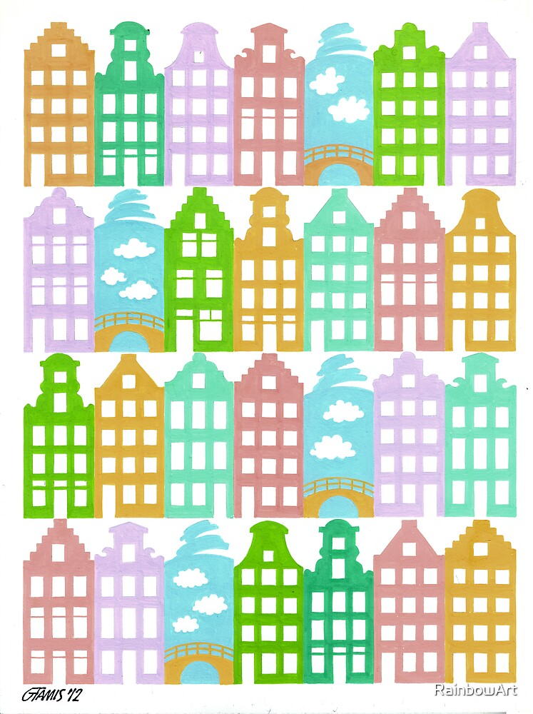 ODE TO THE 8000 CANAL HOUSES IN AMSTERDAM by RainbowArt