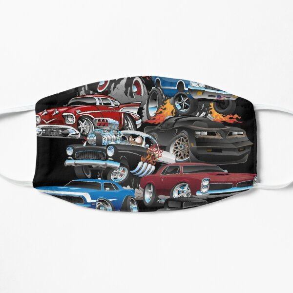 Car Madness!  Muscle Cars and Hot Rods Cartoon Mask
