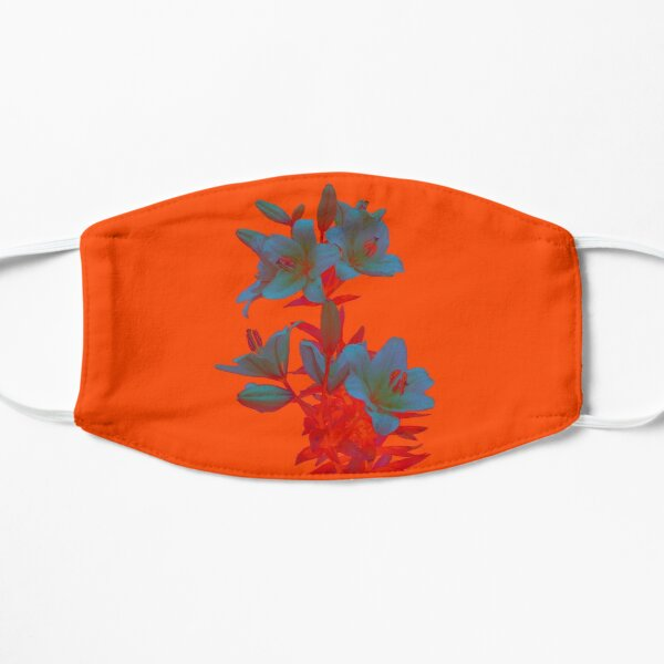 Lilies on a LushLava Background Flat Mask
