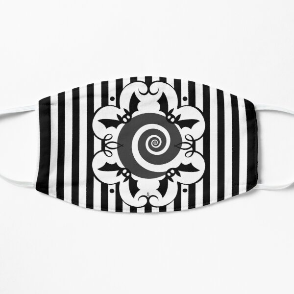 Black & White Bat Stripes Mask