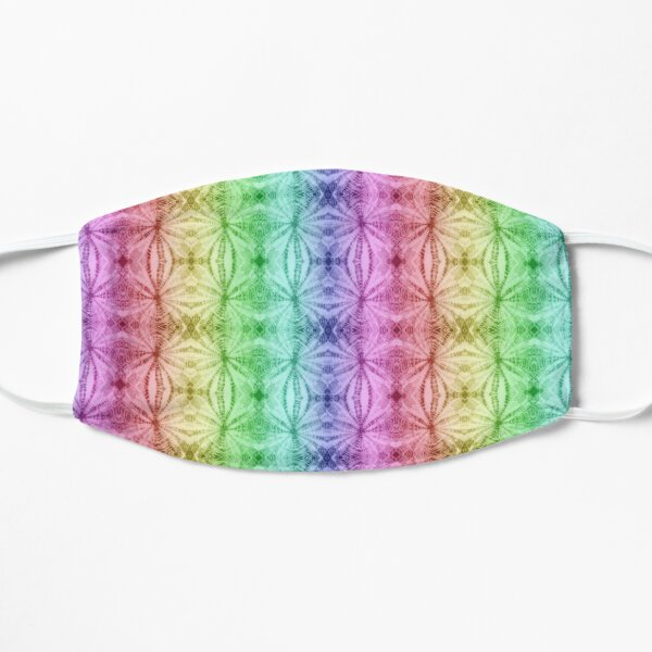 Rainbow Tie Dye Stars Mask