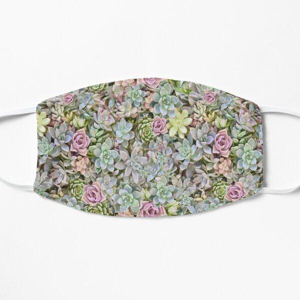 Succulent Pastels Flat Mask