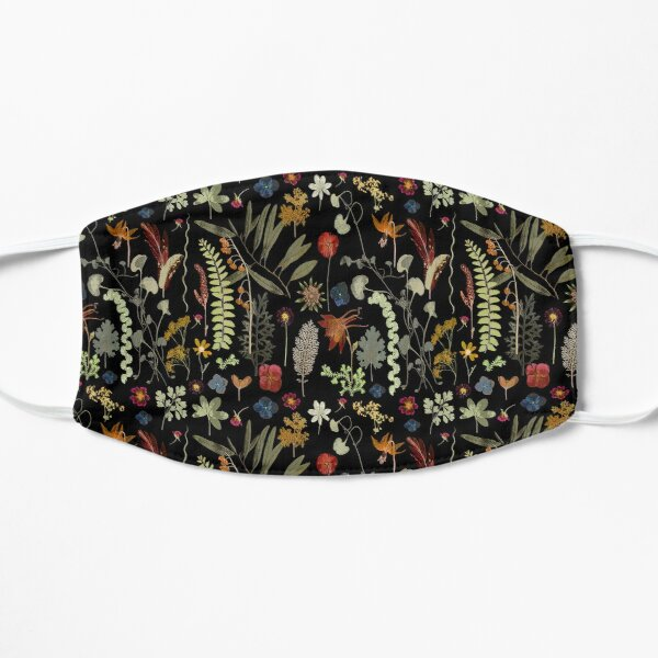 Botanical Dark Floral  Mask