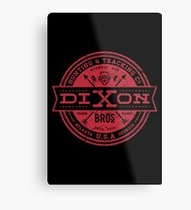 Dixon Bros. - Red Version Metal Print