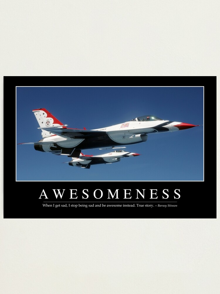 Motivational Quotes Phrases Poster Print Barney Stinson I Love Being Awesome