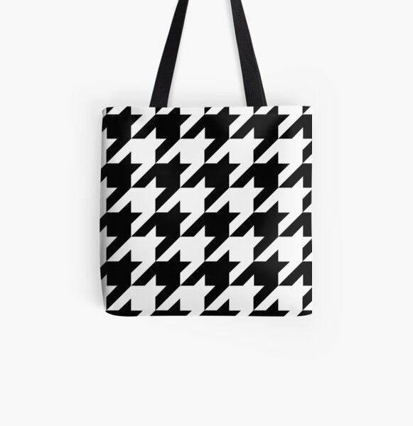 Houndstooth All Over Print Tote Bag
