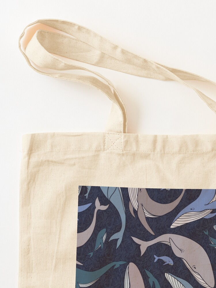 Alternate view of School of whales Tote Bag