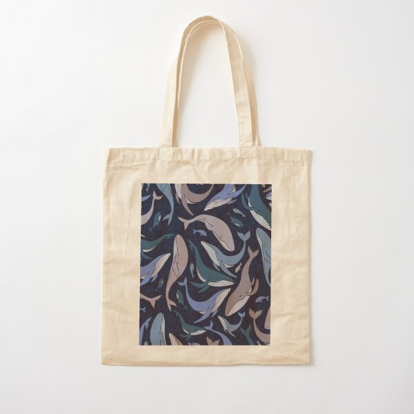 School of whales Cotton Tote Bag