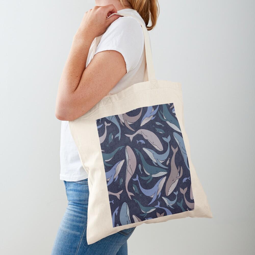 School of whales Tote Bag