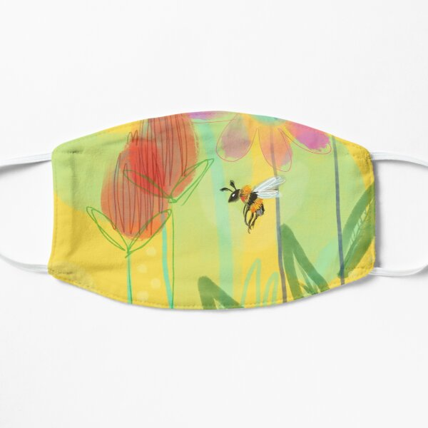 Bumble Bee On A Sunny Day Mask