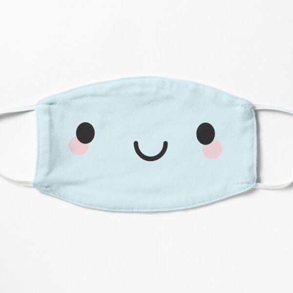 Kawaii Happy Face Flat Mask