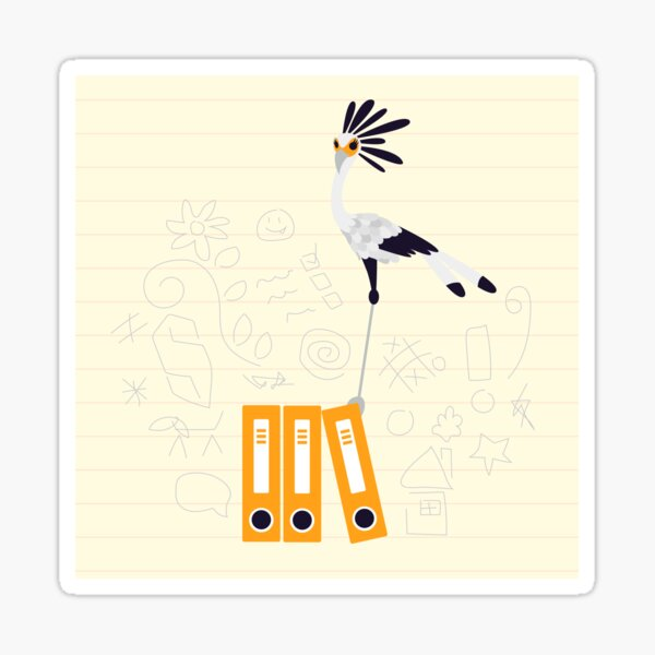 Secretary Bird - v2 Sticker