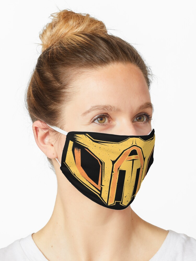 Mortal Kombat Scorpion Mask Mask By Vector Planet Redbubble