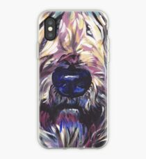 Vinilo o funda para iPhone Wheaten Terrier Arte pop colorido brillante