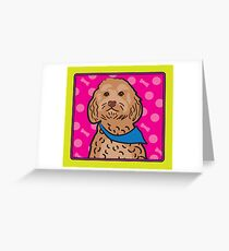 Cockapoo Cartoon Greeting Card