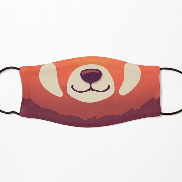 Red Panda Mask / Funny & Cute Wild Animal / Endangered Species, Nature, Kawaii Mascarilla para niños