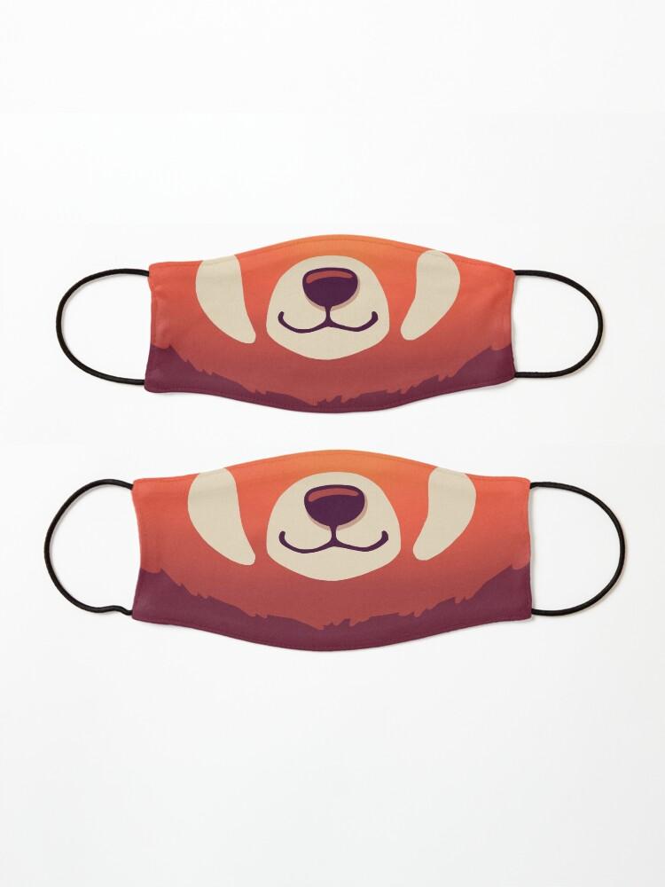 Alternate view of Red Panda Mask // Cute Wild Animal, Endangered Species, Kawaii Mask