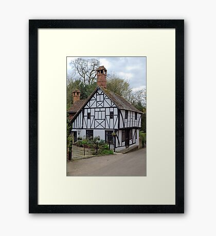 There was a crooked house..... Framed Print