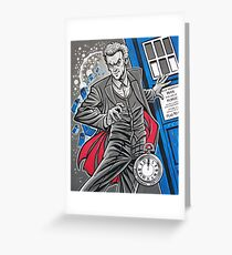 """The Twelfth Doctor (""""All Thirteen!"""") Greeting Card"""