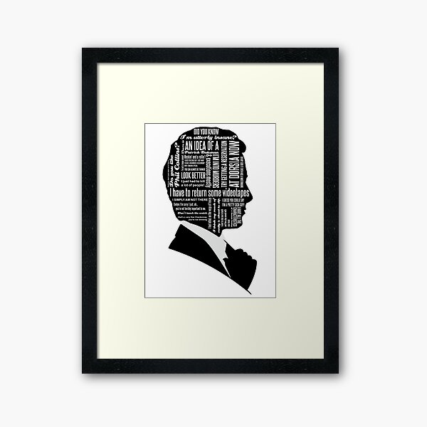 Patrick Bateman Quotes Framed Art Print