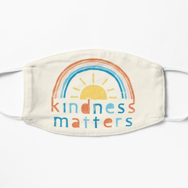 Kindness Matters. Typography Design with Rainbow Mask