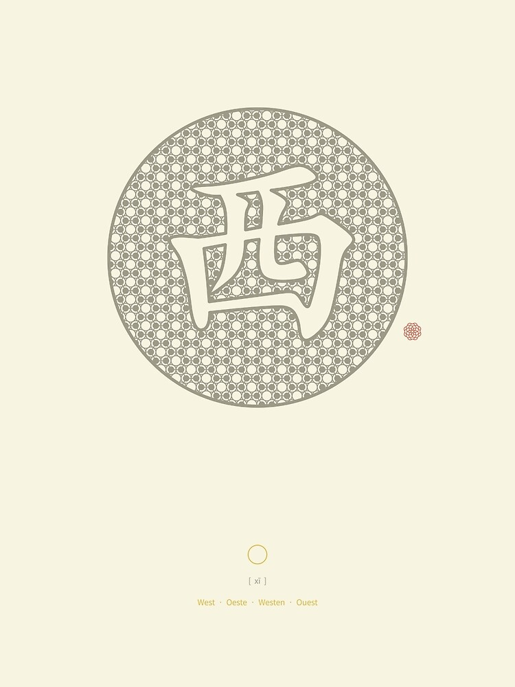 Chinese Character West / Xi by Thoth-Adan