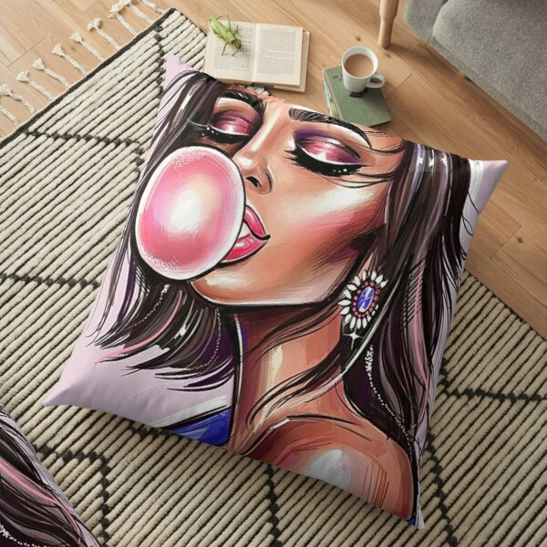 BEAUTY BLOWING BUBBLE Floor Pillow