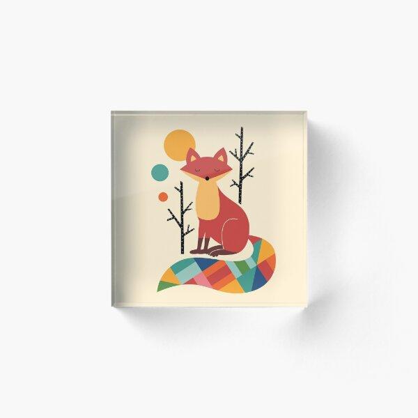 Rainbow Fox Acrylic Block
