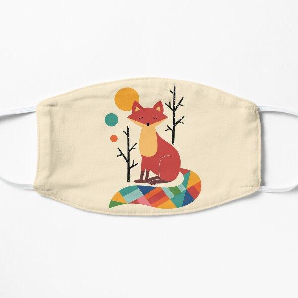 Rainbow Fox Flat Mask