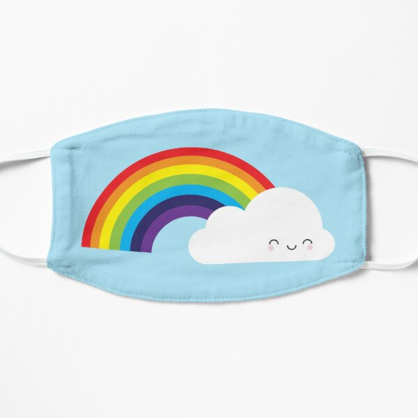 Kawaii Rainbow Flat Mask