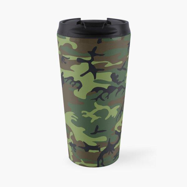 Dark forest camouflage Travel Mug