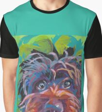 WireHaired Pointing Griffon Bright colorful pop dog art Graphic T-Shirt