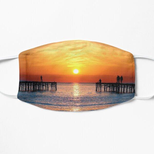 Alcudia beach art work  sunset  Mask
