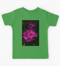 A Vivid Succulent Bouquet in Bold Pink and Fuchsia Kids Tee