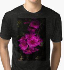 A Vivid Succulent Bouquet in Bold Pink and Fuchsia Tri-blend T-Shirt