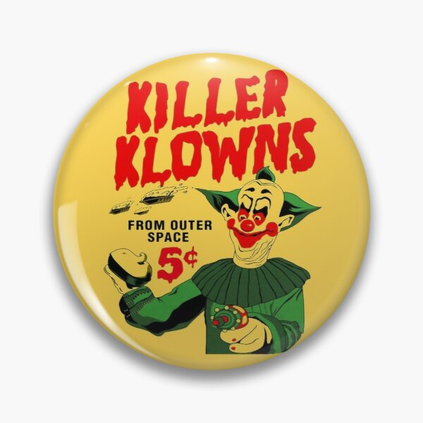 Authentic Killer Klowns Pie In The Face  Pin