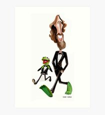 Steppin' Out with Jim and Kermit Art Print