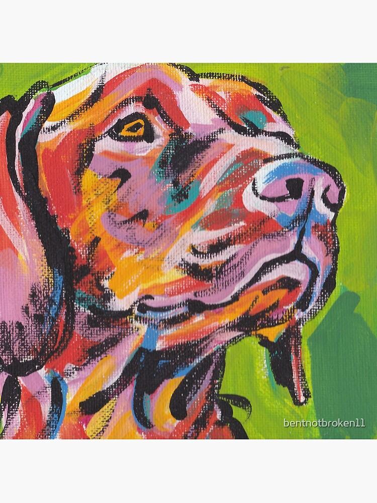 Vizsla Dog Arte pop colorido brillante de bentnotbroken11